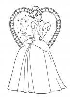 Desene cu Cenusareasa de colorat, imagini și planșe de colorat cu cenusareasa