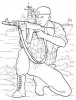 Desene cu Soldati de colorat, imagini și planșe de colorat cu Soldati