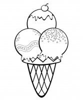 Desene cu Inghetata de colorat, imagini și planșe de colorat cu inghetata