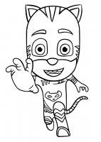 Desene cu Eroii in pijamale de colorat, imagini și planșe de colorat cu Eroii in pijamale
