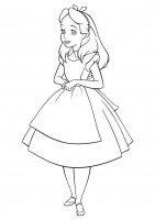 Desene cu Alice in Tara Minunilor de colorat, imagini și planșe de colorat cu Alice in Tara Minunilor