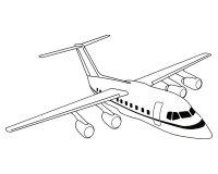 Desene cu Avioane de colorat, imagini și planșe de colorat cu Avion