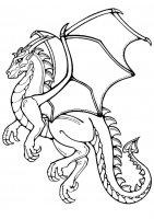 Desene cu Dragoni de colorat, imagini și planșe de colorat cu Dragoni