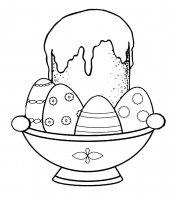 Desene cu Pasca de pasti de colorat, imagini și planșe de colorat cu Pasca si oua
