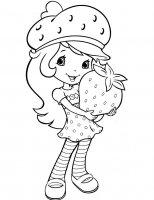 Desene cu Capsunica de colorat, imagini și planșe de colorat cu Capsunica