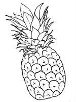 Desene cu Ananas de colorat, imagini și planșe de colorat cu ananas