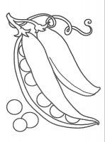 Desene cu Mazare de colorat, imagini și planșe de colorat cu mazare