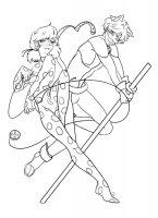 Desene cu Buburuza si Motanul Noir de colorat, imagini și planșe de colorat cu Buburuza si motanul noir