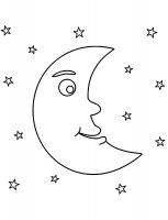 Desene cu Luna de colorat, imagini și planșe de colorat cu luna