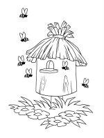 Desene cu Cuiburi de Albine de colorat, imagini și planșe de colorat cu stupi de albine