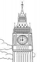 Desene cu Big Ben de colorat, imagini și planșe de colorat cu Big Ben