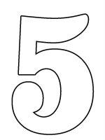 Desene cu Cifra 5 de colorat, imagini și planșe de colorat cu cifra 5