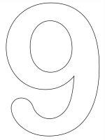Desene cu Cifra 9 de colorat, imagini și planșe de colorat cu cifra 9
