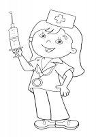 Desene cu Profesia de medic de colorat, imagini și planșe de colorat cu doctor