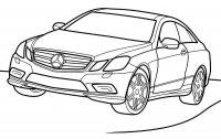 Desene cu Mercedes-Benz de colorat, imagini și planșe de colorat cu masini Mercedes-Benz