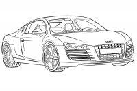 Desene cu Audi de colorat, imagini și planșe de colorat cu Audi