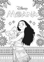 Desene cu Moana de colorat, imagini și planșe de colorat cu Moana