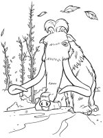 Desene cu Ice age de colorat, imagini și planșe de colorat cu Ice age