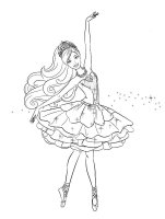 Desene cu Balerine de colorat, imagini și planșe de colorat cu Balerine