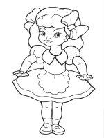 Desene cu Papusa de colorat, imagini și planșe de colorat cu Papusa
