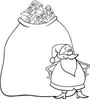 Desene cu Sacul lui Mos Craciun de colorat, imagini și planșe de colorat cu Sacul lui Mos Craciun